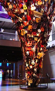 """""""Guitarnado"""" Experience Music Project-Seattle, WA......This was awesome to see the Picture does not do it justice :)"""
