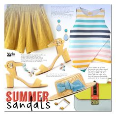 """""""Summer Sandals"""" by cherry-bh ❤ liked on Polyvore featuring Valentino, MiMiSol, Summer, polyvorecontest, summersandals and shein"""