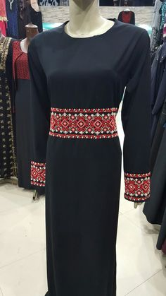 Handmade embroidered Abaya. Contact us on @mycrossstichstore.00972599781148
