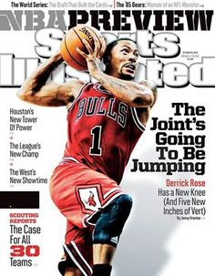 Derek Rose on this week's SI cover.....before the new injury....