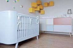 model color blue crib and dresser model