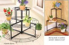 Collections ETC 27490 Curved 3 Tier Corner Plant Stand