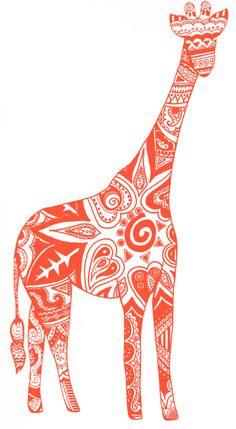 giraffe-red Tribal Elephant Drawing, Henna Elephant, Giraffe Drawing, Giraffe Coloring Pages, Free Coloring Pages, Animal Henna Designs, Giraffe Silhouette, Giraffe Tattoos, Giraffe Print