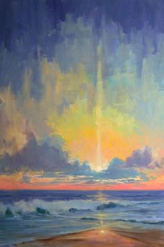 """Selected new works from my 'Breaking Sky' series. Click on any image for more details, or click here for see all paintings. """"Sea-ing Anew"""" 40 x 60 Oil$5900"""