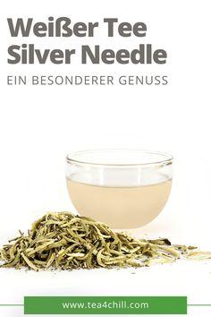 """Ein besonderer Weißer Tee, der die Sinne verzaubert. Das Geheimnis des Silver Needle liegt in der Verarbeitung und der händischen Auswahl der ungeöffneten Blattknospen, von denen für ein Kilo fertigen Tee rund 30.000 Stück benötigt werden. Der Geschmack des Yin Zhen ist zart, der Aufguss bei richtiger Wassertemperatur von 90 °C fast farblos. In unserem Online-Shop finden Sie alles, was das """"Teetrinker-Herz"""" höher schlagen lässt. #teeliebhaber #teezeit"""
