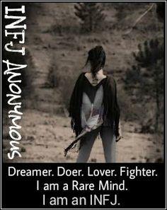 Dreamer. Doer. Lover. Fighter. | INFJ Anonymous #INFJ