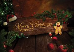 Gingerbread Wishes Christmas Card - Elizabeth Richard Gifts