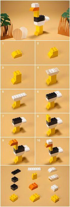 Apprenez à construire un énorme oiseau avec seulement 12 briques ! - Articles - Family LEGO.com