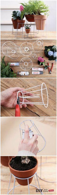 Trasformare dei vecchi paralumi in portavasi con il riciclo creativo - http://it.dawanda.com/tutorial-fai-da-te/bricolage/come-fare-portavaso-riciclando-paralume