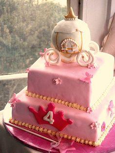 Cinderella cake.... I like the idea of the crown