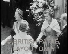 As well as the massive and impressive diamond tiara, Edwina, Countess Mountbatten also had a significant pearl tiara, seen here in 1953.