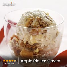 "Apple Pie Ice Cream | ""This cinnamon ice cream is loaded with fried apples, cookie crust, caramel, and walnuts."""