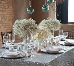Sparkly table cloth