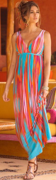 Colorflow Maxi Dress