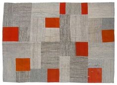 Patchwork vintage tent wrapping rug