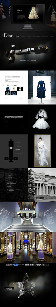 Inspiration Dior Website by Le Ciel Etait Rose Mobile Web Design, Web Ui Design, Best Web Design, Web Design Company, Graphic Design, Design Sites, Site Design, Print Layout, Web Layout