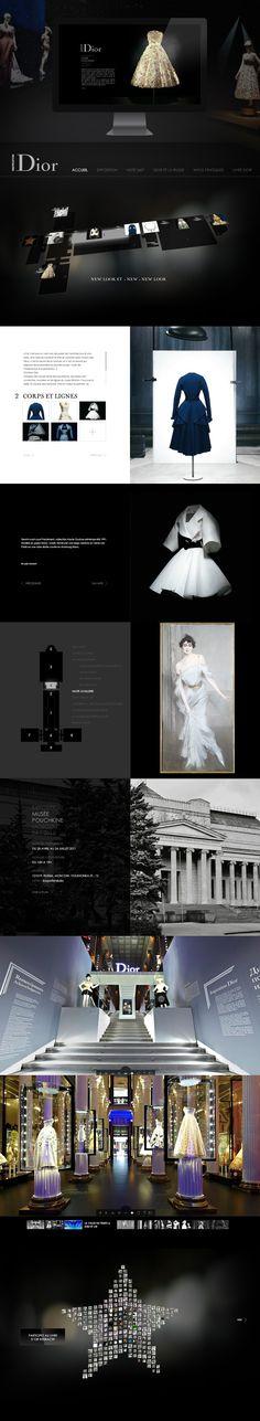 Inspiration Dior - Website by Le Ciel Etait Rose // #fashion #webdesign