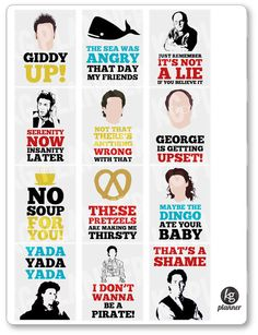 Seinfeld Quote Full Box Planner Stickers for Erin Condren Planner, Filofax, Plum Paper by KGPlanner on Etsy https://www.etsy.com/listing/255293874/seinfeld-quote-full-box-planner-stickers