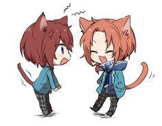 Leo & Tsukasa | Ensemble Stars {Look at these two... <3}