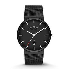 Skagen Klassik Men's Three-Hand Date Stainless Steel Watch