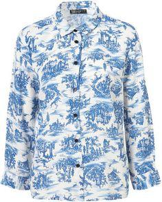 toile print t shirt   Topshop 3/4 Sleeve Toile Print Shirt Profile Photo