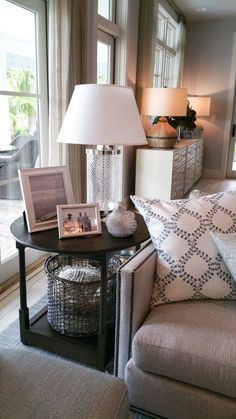HOW TO STYLE AN END TABLE LIKE A PRO | Real estate, Decorating and Room