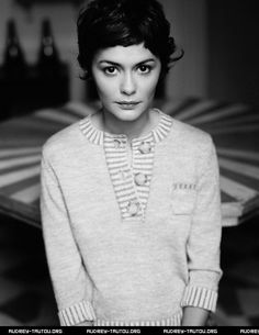 The hair, love the hair. Audrey Tautou – quintessentially French.