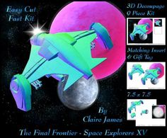 The Final Frontier Space Explorers 15 Kit Insert Tag on Craftsuprint - Add To Basket!
