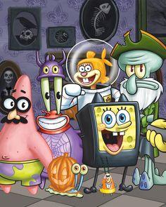 Spongebob & friends halloween The SpongeBob Movie: Sponge on the Run is an upcoming 2020 American . it is the first SpongeBob SquarePants movie to be fully animated in stylized CG . Wie Zeichnet Man Spongebob, Spongebob Friends, Spongebob Cartoon, Spongebob Drawings, Cartoon Art, Watch Spongebob, Spongebob Iphone Wallpaper, Cartoon Wallpaper Iphone, Cute Disney Wallpaper