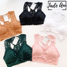 Our stretch lace bralettes are a must have item! Must Have Items, Bralettes, Total Body, Stretch Lace, Lace Bralette, Must Haves, Perfect Fit, Stretches, Jade