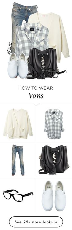 """Untitled #5714"" by doradabrowska on Polyvore featuring Diesel, Organic by John Patrick, Yves Saint Laurent, Vans and Ray-Ban"
