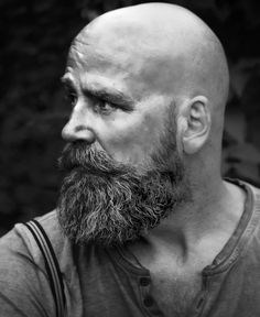 Viking Beard Tips and Styles (Part 2 of Like the hairstyle, the Viking beard styles have become a great distinction of the Vikings. In the last writing (Viking Beard Tips and Styles Part BaviPower has shared some tips… Continue Reading → Bald Men With Beards, Bald With Beard, Grey Beards, Viking Beard Styles, Beard Styles For Men, Hair And Beard Styles, Short Beard Styles, Hair Styles, Shaved Head With Beard
