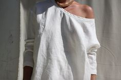 Image of The OVERSIZED LINEN SWEATER - Priority Pre Order