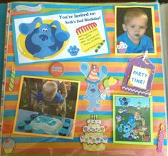 2nd Birthday page #scrapbooking
