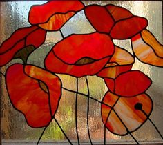 buy red stained glass window - Google Search
