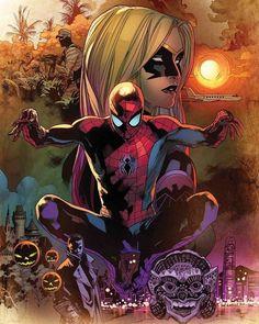 "Marvel Stuart Immonen variant cover for Amazing Spider-Man "" Marvel Comics, Comics Spiderman, Spiderman Girl, Hq Marvel, Bd Comics, Marvel Heroes, Marvel Characters, Mundo Marvel, Batman"