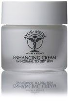 Ayur-Medic Enhancing Cream, for Dry Skin (2 oz) by Ayur-Medic. $42.90. Most Popular Anti Aging sold. Enhancing Cream, A light nourishing cream that helps contribute to the protein synthesis in the skin, aiding in the development of collagen and elastin, which reduces the appearance of fine lines and wrinkles. Key Ingredients: DHCA complex, arnica ext., avocado oil, chamomile ext., liposomes A,C, & E, panthenol, and sodium PCA. (2 oz). Save 37% Off!