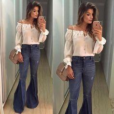 {Friday } Look by @anahovastore E o jeans mais lindo da vida, daqueles que super alongam!  In Love! • #ootn #selfie #lookdanoite #blogtrendalert