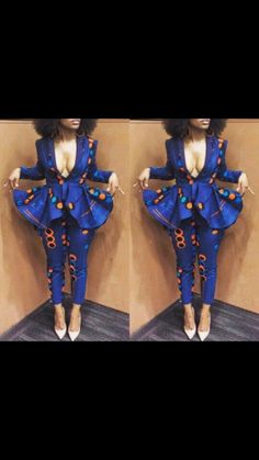 NuVu Jacket with Peplum and Pants clothing Summerpant suit