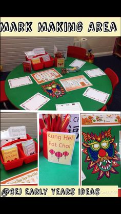 Chinese New Year - Mark making area Chinese New Year Activities, New Years Activities, Eyfs Activities, Nursery Activities, Mark Making Early Years, Early Years Topics, Writing Area, Writing Station, Chinese New Year 2016