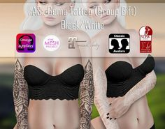 June Summer Gema Tattoo. The Gema tattoo includes system layers and appliers for Maitreya, Omega, Slink and TheMeshProject. Next