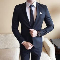 Mens Wedding Suits Tuxedo Set Slim Fit Man Suits Brand Blazer Masculino Dress Suit For Men Ukraine Groom Wedding Dress Groom Wedding Dress, Wedding Men, Wedding Suits, Wedding Attire, Wedding Ceremony, Wedding Ideas, Dress Suits For Men, Mens Suits, Blazer Fashion