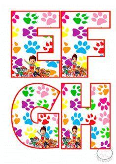 Abecedario de patrulla canina para imprimir-Imagenes y dibujos para imprimir Paw Patrol Party, Paw Patrol Birthday, Class Displays, Art Party, Letter Art, Disney Art, Birthday Parties, 3rd Birthday, Projects To Try