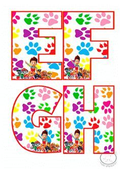Abecedario de patrulla canina para imprimir-Imagenes y dibujos para imprimir Paw Patrol Party, Paw Patrol Birthday, Class Displays, Art Party, Letter Art, Disney Art, 3rd Birthday, Projects To Try, Kids Rugs