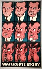 WATERGATE STORY Nixon ULTRA-RARE 1972 Bob Dara Poster political cartoon satire Need one for Trump