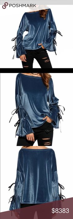 ✔️Size 4-12🔹COMING SOON🔹The Bluebonnet Velvet soft blue top. Item is new, direct from maker without store tags. Please like this for arrival notifications. Price will not exceed $45. Birthday Anniversary gift present. Vacation cruise wedding Valentines Coachella spring break top🔻IF YOU LIKE MY ITEMS, please FOLLOW ME to see NEW ARRIVALS. Posh Garden Tops Tunics
