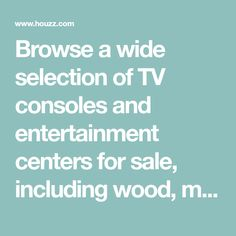 Browse a wide selection of TV consoles and entertainment centers for sale, including wood, metal and glass TV stands with a variety of storage options. Home Theater Room Design, Home Theater Rooms, Corner Tv Stands, Corner Unit, Living Room Kitchen, Living Room Decor, Tv Stand Sideboard, Glass Tv Stand, Home Deco
