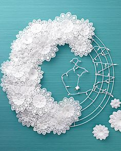 Paper-Doily Wreath - Martha Stewart Holiday & Seasonal Crafts