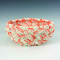 'Large Orange Coral Bowl'