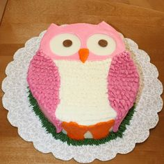 Party Cakes: Owl Cake for Ella